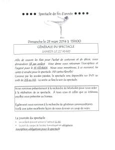 Lettre participation spectacle